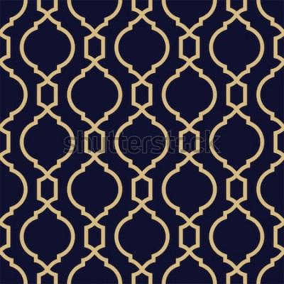 Sticker Modèle abstrait en style arabe. Fond de vecteur géométrique sans soudure.