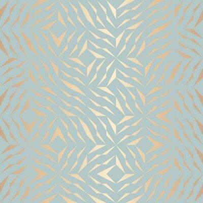 Sticker Modèle d'élément doré géométrique sans vecteur transparent. Texture de cuivre de fond abstrait sur le vert bleu. Impression graphique minimaliste simple. Grille de treillis turquoise moderne. Géométri