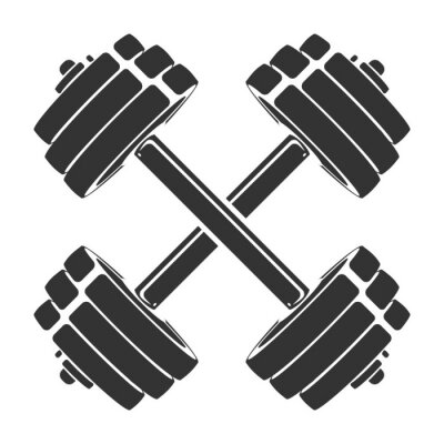 Sticker Modèle d'icône de sport, symbole, logo ou autre marque. Illustration rétro moderne
