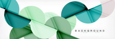 Sticker Modèle de conception de présentation d'affaires ou de technologie, modèle de brochure ou de dépliant, ou bannière web géométrique