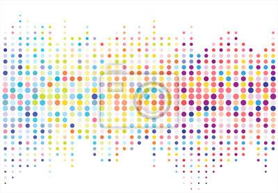 Sticker Modèle de points de texture en demi-teinte colorée abstraite. vecteur