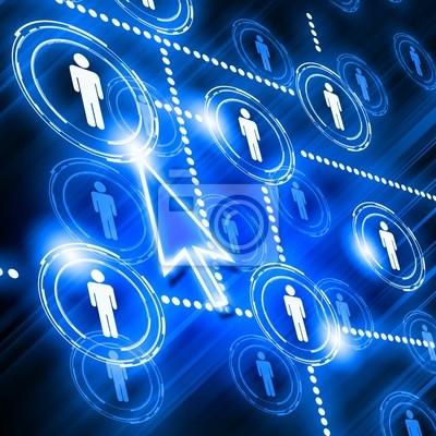 modèle de réseau social