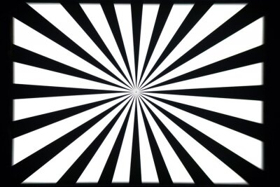 Sticker Modèle de test noir et blanc