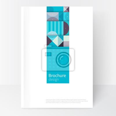 Sticker Modele Minimaliste De Couverture Blanche Couverture De Conception