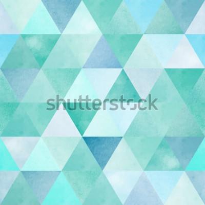 Sticker modèle sans couture aquarelle avec triangle géométrique vintage