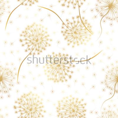 Sticker Modèle sans couture avec des fleurs de pissenlit. Illustration vectorielle
