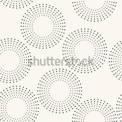 Sticker Modèle sans couture avec les cercles en pointillés. Texture répétée de vecteur. Fond élégant