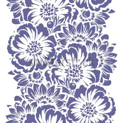 Sticker Modèle sans couture d'élégance abstraite avec fond floral