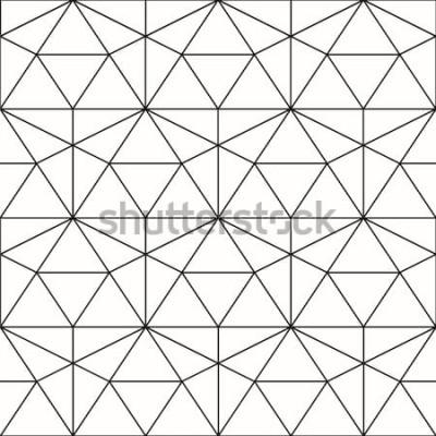 Sticker Modèle sans couture de vecteur. Fond géométrique avec losange et nœuds. Motif géométrique abstrait Texture grise. Motif géométrique sans soudure.