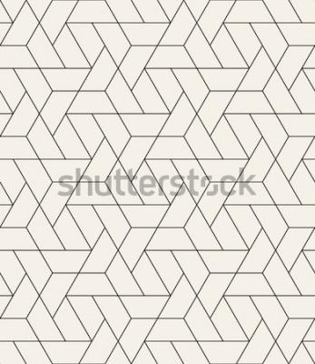 Sticker Modèle sans couture de vecteur. Texture élégante moderne avec treillis monochrome. Répétant la grille triangulaire géométrique. Conception graphique simple. Géométrie sacrée tendance hipster.