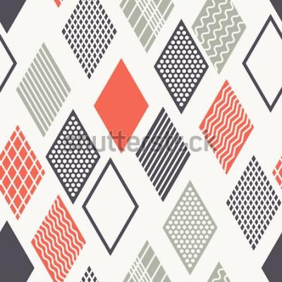 Sticker Modèle sans couture de vecteur. Texture élégante moderne. Ornement géométrique avec losanges colorés