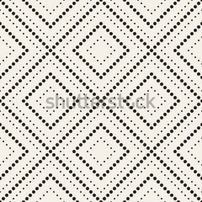 Sticker Modèle sans couture de vecteur. Texture élégante moderne. Répétant les carreaux géométriques avec losange en pointillé