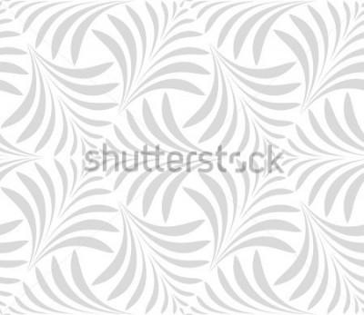 Sticker Modèle sans couture. Floral fond élégant. Ornement gris et blanc. Motif graphique moderne.