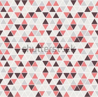 Sticker Modèle triangle sans soudure. Fond de vecteur. Texture abstraite géométrique