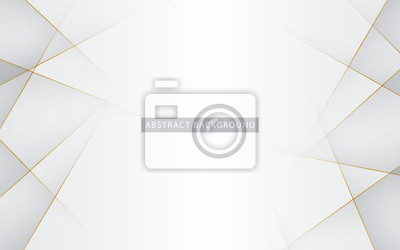 Sticker Modern abstract light silver background vector. Elegant concept design with golden line.
