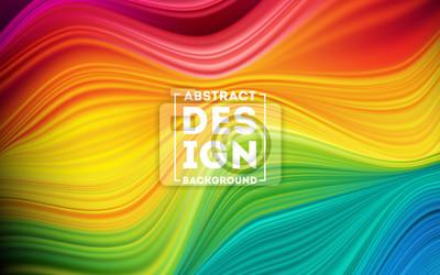Sticker Modern colorful flow poster. Wave Liquid shape color background. Art design for your design project. Vector illustration EPS10
