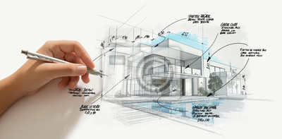 Sticker Modern high end architecture project evolution