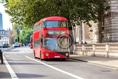 Moderne, rouge, double, decker, autobus, londres