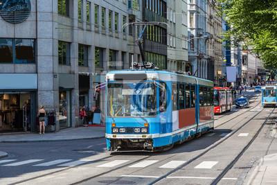 Moderne, tram, Oslo, Norvège