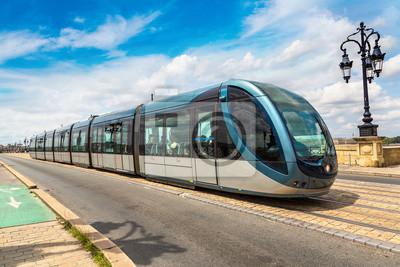 Moderne, ville, tram, bordeaux