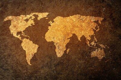 Sticker Mondiale, carte, grunge, fond