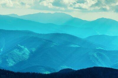 Sticker Montagne en été