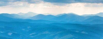 Sticker Montagnes bleues
