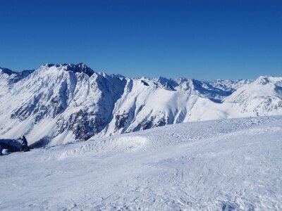 Montagnes d'hiver.