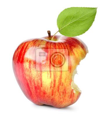 Mordre sur une pomme rouge
