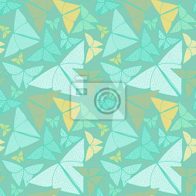Motif avec de beaux papillons en origami dessin.