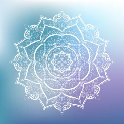 Sticker motif circulaire d'ornement. Mandala