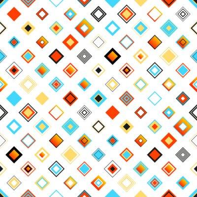 Sticker Motif coloré Seamless géométrique Lumineux Avec Squares