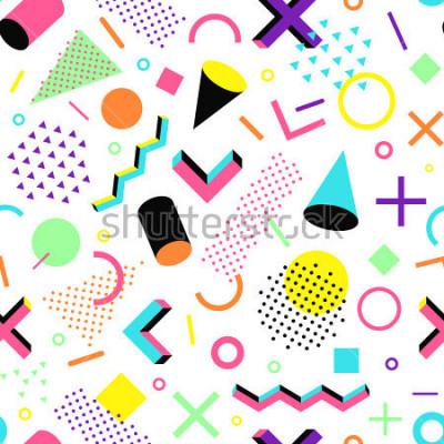 Sticker Motif dans le style des années 90. Motif géométrique vectorielle continuer dans le style de memphis