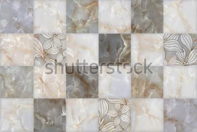 Sticker Motif de bloc de pierre abstraite en marbre