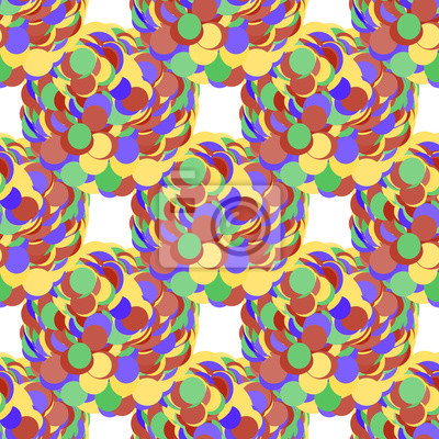 Motif de bulles sans soudure. Vecteur, cercles, fond