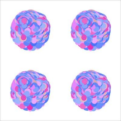 Motif de cercle géométrique transparent