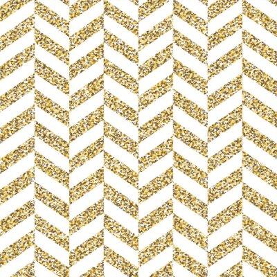 Sticker Motif de chevron sans couture. Surface dorée scintillante