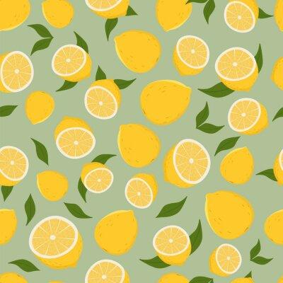 Sticker Motif de citrons.