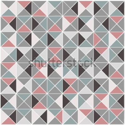 Sticker Motif de couleur transparente raster losange géométrique