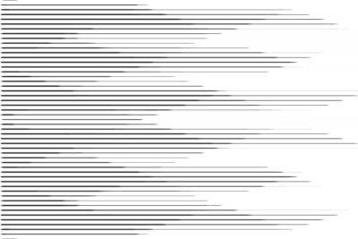 Sticker Motif de demi-teinte de ligne de vitesse horizontale avec effet de dégradé. Modèle pour les arrière-plans et les textures stylisées.