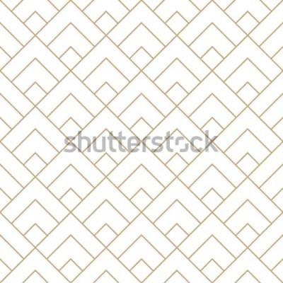 Sticker motif de vecteur graphique minimal de tuile diamant géométrique
