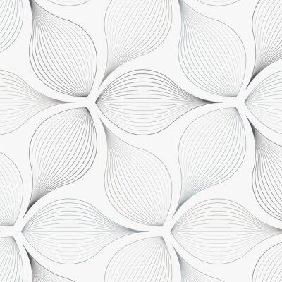 Sticker motif de vecteur linéaire, répétant les feuilles de fleurs abstraites, ligne grise de feuilles ou de fleurs, floraux. conception graphique épurée pour tissu, événement, papier peint, etc. Le motif est