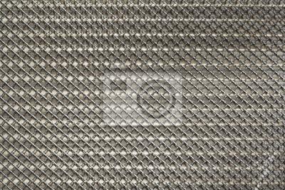 Motif en métal argenté brillant