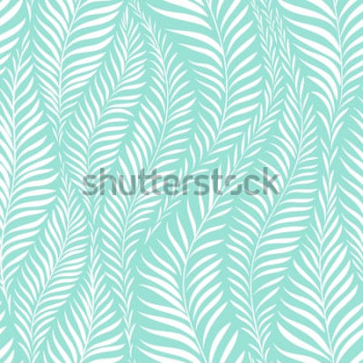 Sticker Motif feuille de palmier. Illustration vectorielle Élément de décor