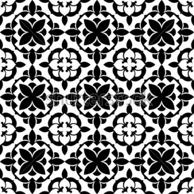 Sticker motif floral ornemental