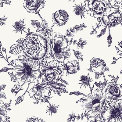 Sticker Motif floral sans couture.