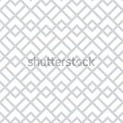 Sticker Motif géométrique abstrait avec des carrés, des losanges. Un fond vectorielle continue. Motif graphique gris et blanc.
