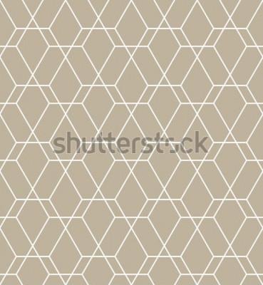 Sticker Motif géométrique abstrait avec des lignes. Un fond vectorielle continue. Motif graphique moderne.