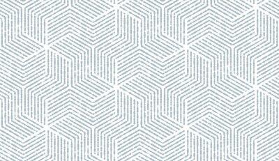 Sticker Motif géométrique abstrait avec des rayures, des lignes. Fond vectorielle continue Ornement blanc et bleu. Conception graphique simple en treillis