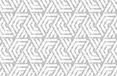 Sticker Motif géométrique abstrait avec des rayures, des lignes. Fond vectorielle continue Ornement blanc et gris. Conception graphique simple en treillis.